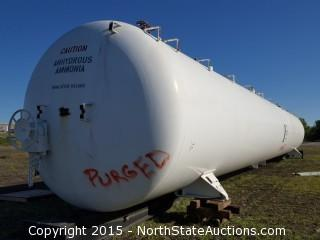 Pressurized Ammonia/Propane Rail Car Storage Tank