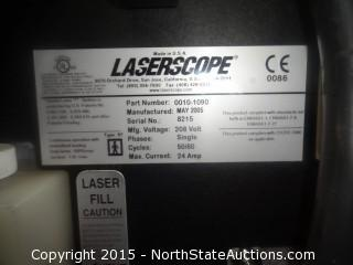 "Laserscope Gemini Laser 0010-1090 "" 2005 "" W/ 2 Hand Pieces, Electrodes,Magnifying Head Gear"