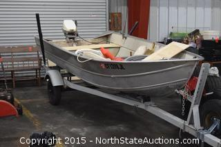 14' Western Aluminum Fishing Boat with Trailer