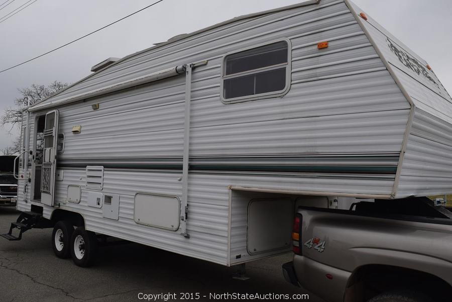 Fifth Wheel Trailer & Diesel GMC Pickup, Bankruptcy Auction