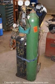 Oxygen & Acetylene Tanks