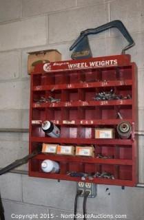 Snap-On Wheel Weight Organizer