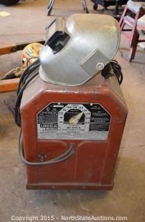 Lincoln Electric Arc Welder with Welding Mask
