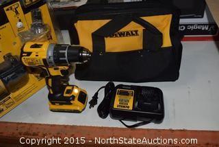 DeWalt Brushless Compact Drill/Driver, 20v Battery Adapter Kit