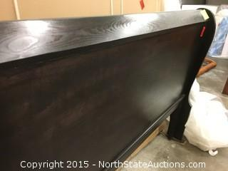 Dark Pine King Sleigh Headboard