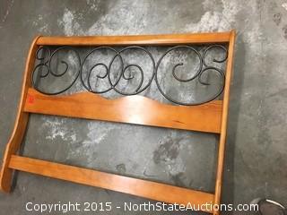 Decorative Wood and Metal Headboard
