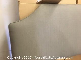 Gray Queen Tufted Headboard