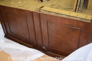 "Homelegance 60"" Cherry  Sleigh Bed"