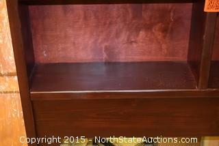 Pine King Bookcase Headboard