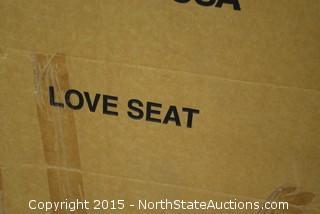 Solid Oak Love Seeat Futon Frame