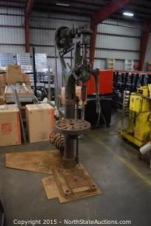Vintage Belt-Driven Industrial Drill Press