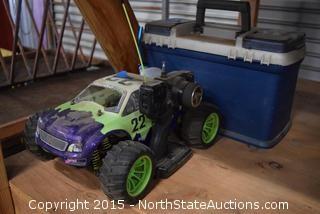 Volcano STX RC Car, Chest of Parts, Tools
