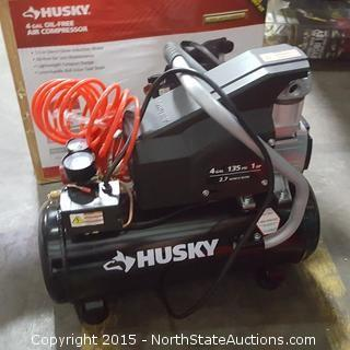Husky 4-Gallon Oil Free Air Compressor