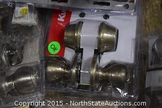 5 Kwikset Doorknob Sets