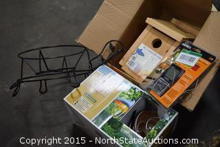Birdhouse, Hummingbird Feeder, Patio Lights