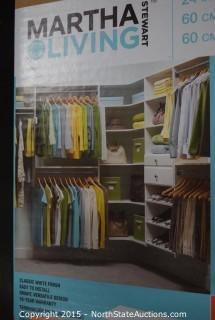 4 Sets of Martha Stewert Living Closet Shelves