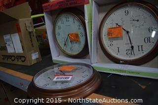 3 AcuRite Clocks