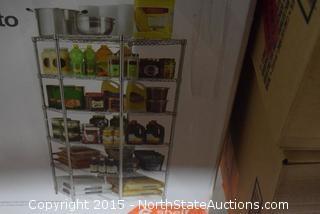 HDX Heavy-Duty 6-Shelf Storage Corner Unit