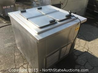 Stainless Steel Commercial ice Cream Freezer.