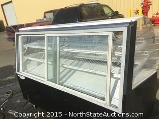 "Federal - SN-77-SS - Series '90 77"" Non-Refrigerated Self-Serve Bakery Case"