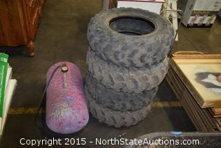 ATV Tires, Portable Air Tank