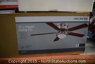 """52"""" Hugger Celing Fan/Light"""