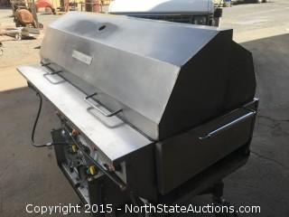 "MagiCater 60"" Outdoor Portable Propane Grill.  AGA 60 Stainless Steel"