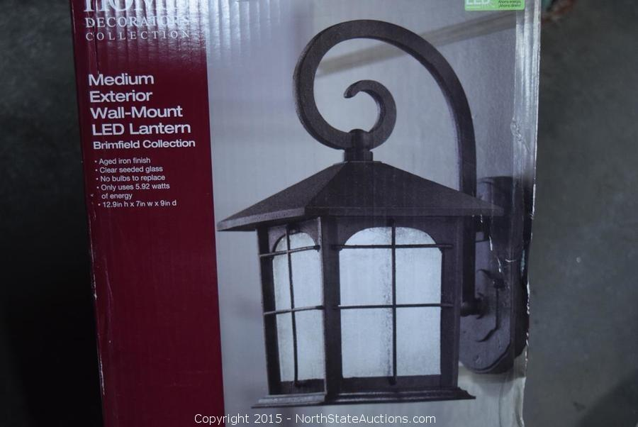 North State Auctions Auction Yet Another Big Box Returns Aucition Item Home Decorators Collection Medium Exterioir Wall Mount Led Lantern