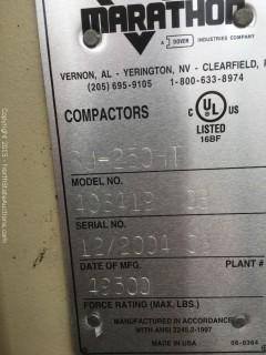 Marathon Trash Compactor RJ-250SC-HT Self Contained