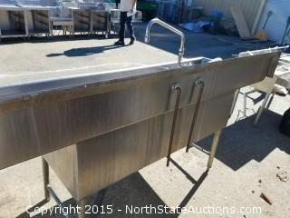 3 Basin Stainless Steel Commercial Sink