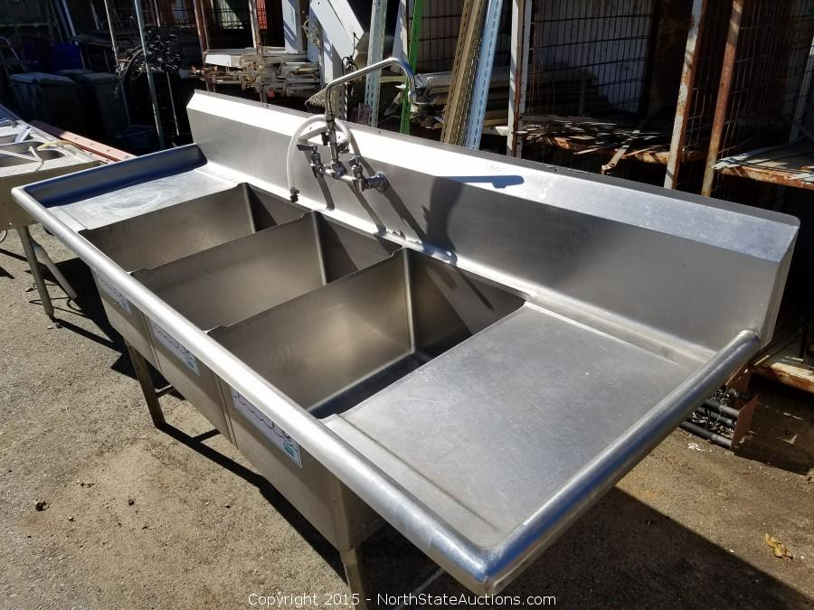North state auctions classified listing buy it now at northstate click on any picture to see a larger image 3 basin stainless steel commercial sink workwithnaturefo