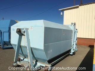 Wastequip Self Contained Hydraulic Tail Trash Compactor, 15 Yard