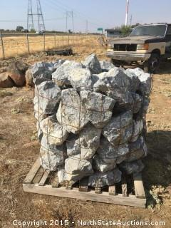 Bound Pallet of Limestone Cobble