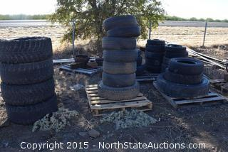 Lot of Tires, Rims
