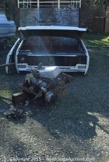 1979Chevy Truck Cab and Fenders and Hood, Small Block Chevy Engine