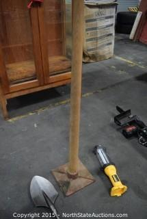 Tamper, DeWalt Trouble Light, Bosch Clay Spade