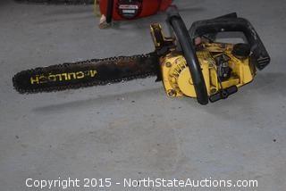 McCullough Gas Powered Chain Saw