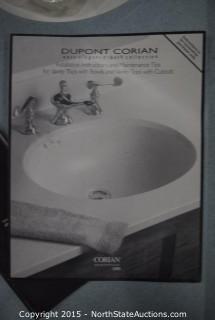 Corian Left-Handed Bathroom Sink