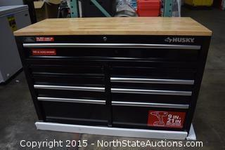 "Husky 46"" 9-Drawer Mobile Tool Box"