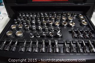 "Husky 268-Piece 1/4"", 3/4"", 1/2"" Drive Mechanics Tool Set"