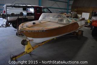 15' Vintage Mahogany Ski Boat