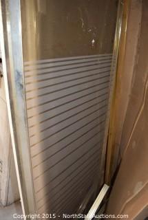 Set of Decorative Shower Doors
