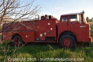 1960's Ford Cabover 850 Series Fire Truck