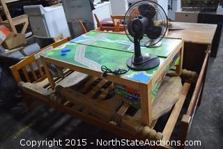 Bedroom Desk, End Tables, Stool, Kitchen Chair, Child's Play Table, Bunk Beds, Table Fan, Desk Lamp
