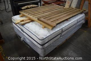 Rustic Slat-style Head and Footboard, Box Spring/Mattress Set