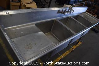 Stainless 3-Basin Sink