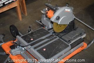 "Ridgid 10"" Wet Tile Saw With Stand"