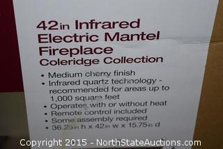 "Home Decorators Collection 42"" Infrared Electric Mantel Fireplace"