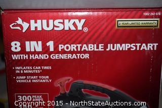 Husky 8 in 1 Jump Starter with Hand Generator