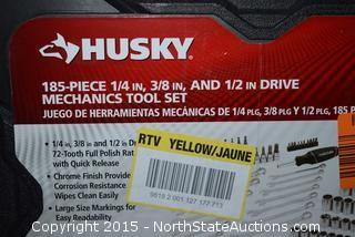 "Husky 185-Piece 1/4"",3/8"",1/2"" Drive Mechanics Tool Set"